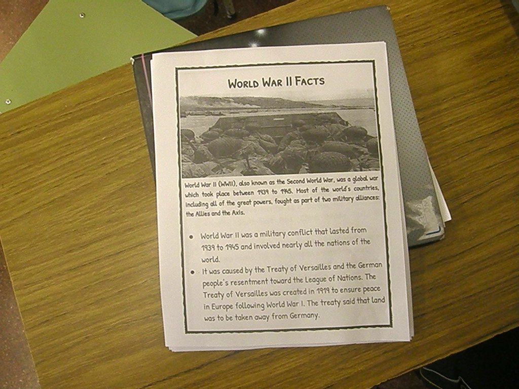 "En 7º A estudiaron ""World War II Facts"""