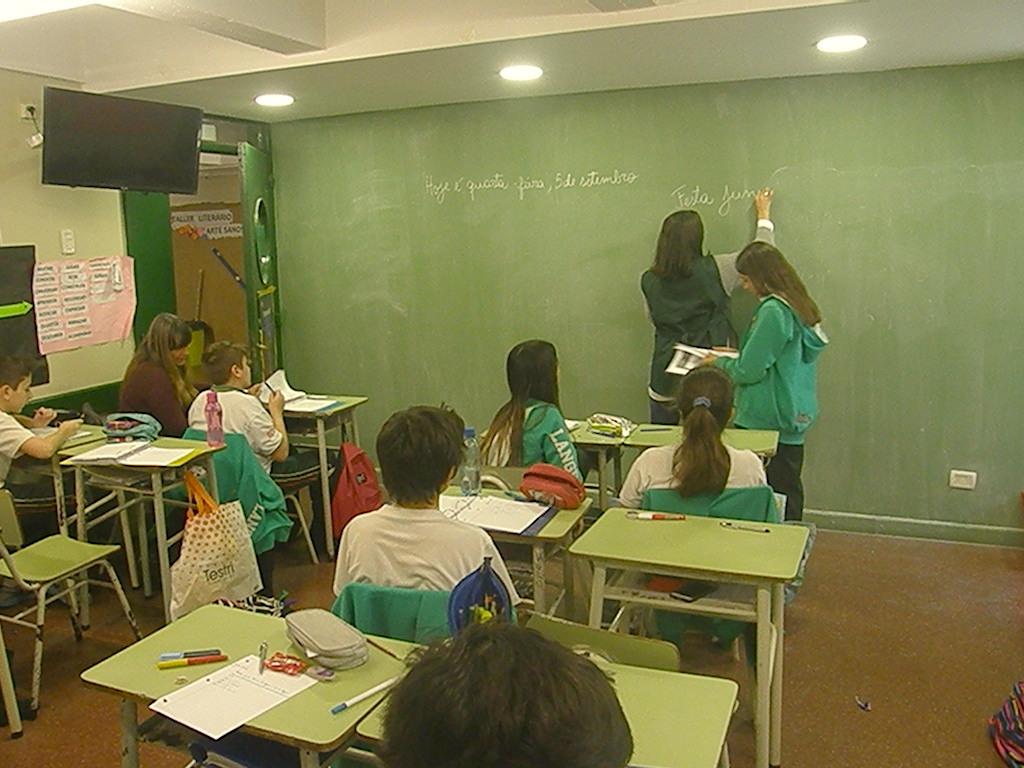 """En 7º B trabajaron el significado de las """"Festas Juninas"""""""