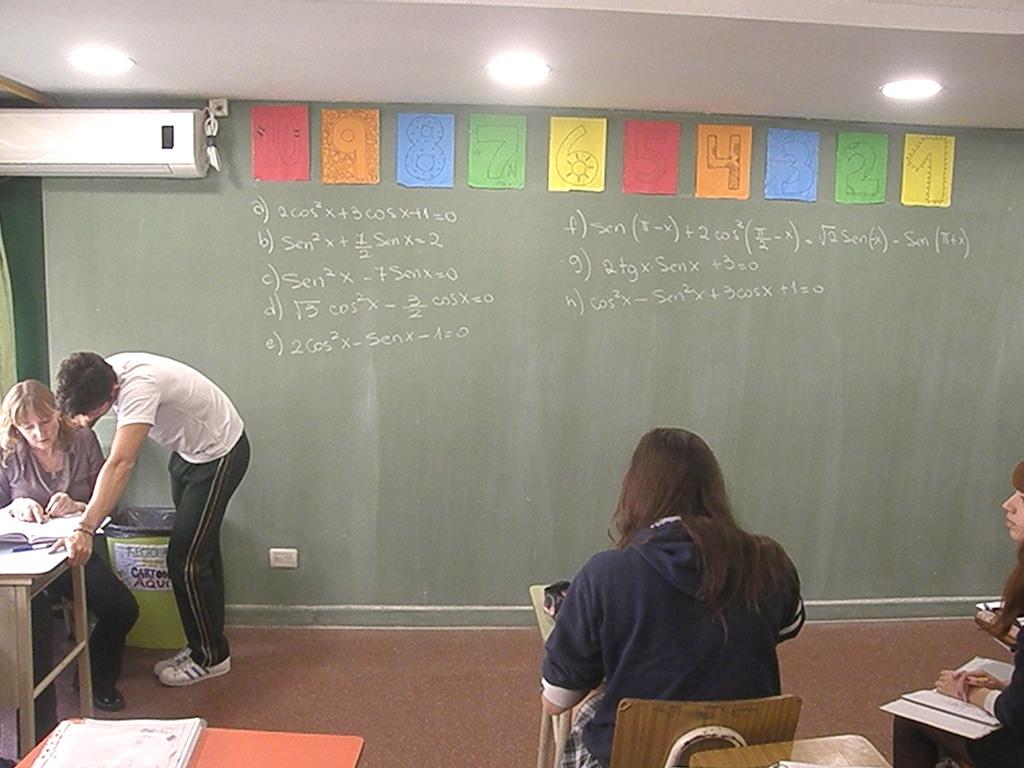 En 5° año ejercitaron la resolución de ecuaciones trigonométricas