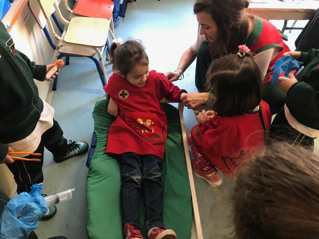 Actividades integradas entre Giraffes y el resto de Kinder 4